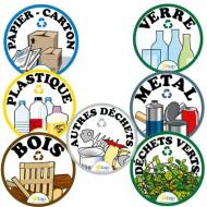 Kit étiquettes pour collecteur de déchets