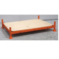 Manurack léger fond bois laqué orange