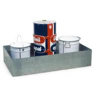 Vasca di raccolta zincata per tavoli da lavoro