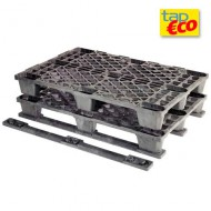 Pallet in plastica forato in PEAD 3 traverse agganciate