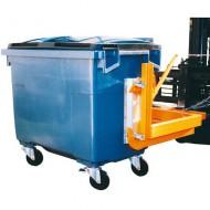Barra di carico per cassonetti di rifiuti