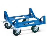 Piattaforma con ruote per oggetti larghi e rotondi