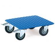 Piattaforma liscia di acciao con ruote