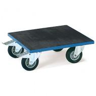 Piattaforma liscia in gomma con ruote