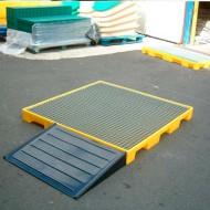 Piattaforma di raccolta in PEAD con griglia zincata