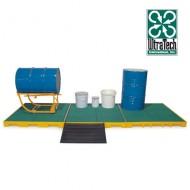 Piattaforma di raccolta in PEAD con griglia in PEAD