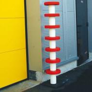 Palo di protezione alta visibilità  rosso e bianco - Altezza 1500 mm