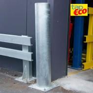 Palo di protezione con estremità arrotondate zincato a caldo