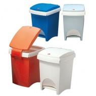 Contenitore per rifiuti a pedale blu