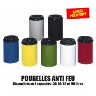 Porta rifiuti ignifugo da 30 litri rosso