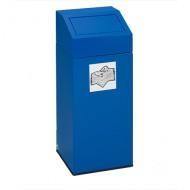 Contenitore in lamiera per rifiuti blu