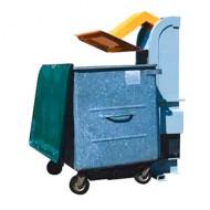 Pressa per residui adatta a contenitori con capacità di 240/360 litri