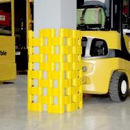 Protezione di polietilene per pilastri, travi pile- Misure: 350x350 mm.