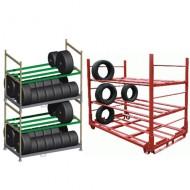 Scaffali e contenitori specifici per i pneumatici