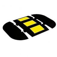 Dosso artificiale in gomma per zone di passaggio medio - Estremità destra