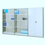 Scaffale per uffici 1000x300 mm con livelli a vista