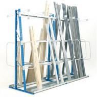Scaffale per lo stoccaggio verticale con facciata doppia 1500 mm - Elemento di base