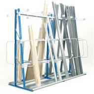 Scaffale per lo stoccaggio verticale con facciata doppia 1800 mm - Elemento di base