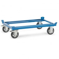 Carrello con ruote in gomma elastica, per pallet