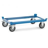 Carrello con ruote in gomma elastica per pallet