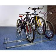 Supporto per biciclette alto-basso 3 posti