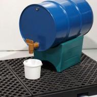 Supporto in PEAD reversibile per fusti da 60, 120 e 220 litri