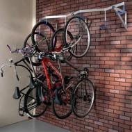 Supporto murale per biciclette 6 posti sospesi