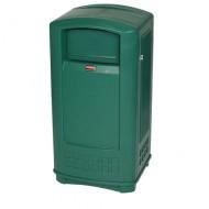 Contenitore per la raccolta di residui, con serratura, colore verde.