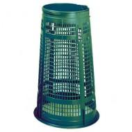 Supporto porta sacchi verde 110 litri senza coperchio.