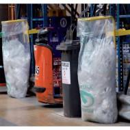Supporto sacchi rifiuti per scaffali